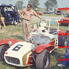 Gary Dausch, his father on the left, and their Lotus Seven in 1976, at an Ohio event, either Dayton divisional, or Columbus nationals.