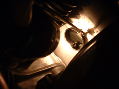 Vent on top of differential (in mirror image)