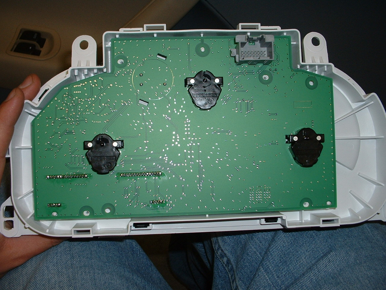 Inside of gauge cluster (rear view)