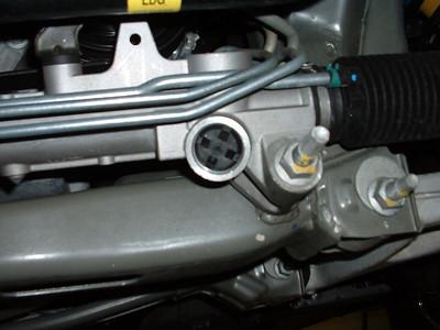 Power steering rack-to-subframe mount