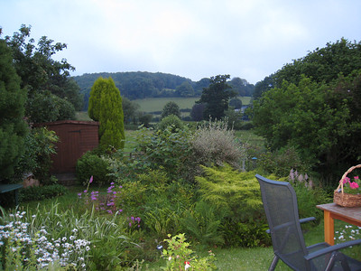 The view over to the Quantock Hills from my brother's house.