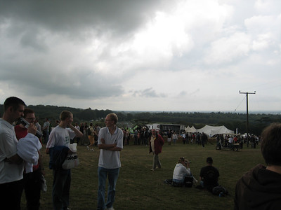 Storm clouds at Goodwood.