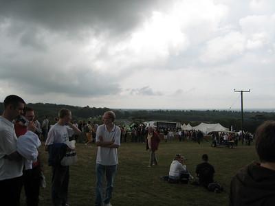 Storm clouds at Goodwood.