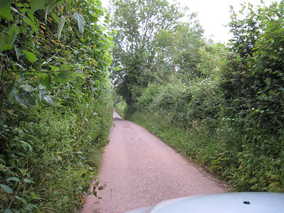 This isn't a driveway, its an actual road.  Luckily we didn't meet anyone coming the other way.