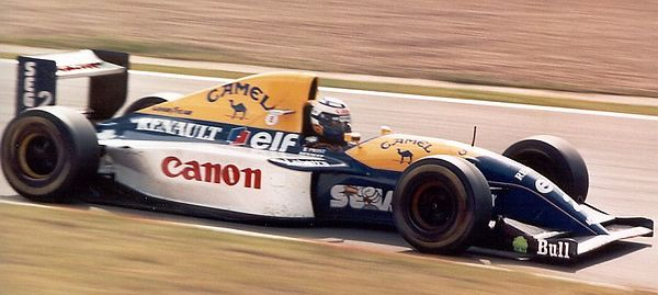 Alain Prost, in the Williams