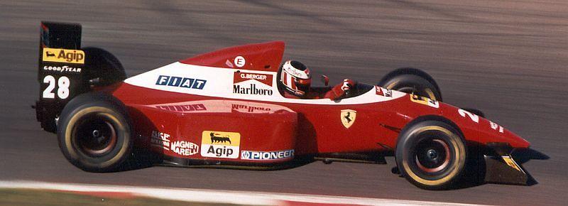 Gerhard Berger, in the Ferrari