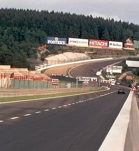Eau Rouge on Thursday afternoon, before the GP