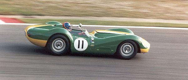 Lister-Jaguar in the vintage support race