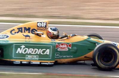Michael Schumacher, during his first full F1 season (and second Belgian GP)