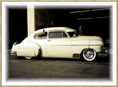 Bagged 49 Chevy with stock suspension