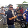 """A.J. """"The Dinger"""" Allmendinger hanging out. Drives the 43 Richard Petty Motorsports car in NASCAR. I took this at Richmond Intl. Raceway, my favorite driver. Very friendly guy."""