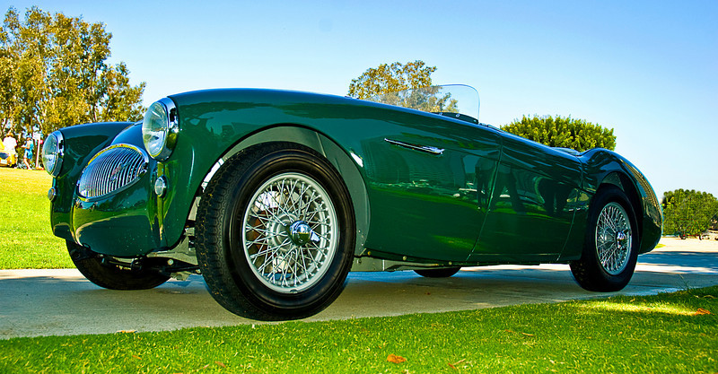 This magnificent Austin-Healey 100S was built for and raced by American movie actor Jackie Cooper. Austin-Healey Conclave, San Diego, CA July, 2008