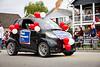 The Rob Howard Smart Car at the 2011 Steveston Salmon Festival Canada Day Parade.