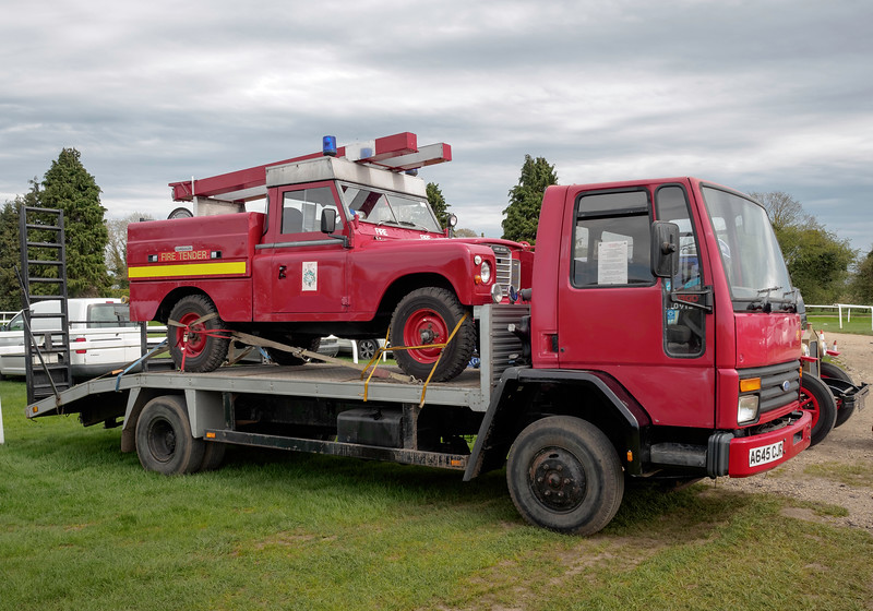 1984 Ford Cargo Truck and 1980 Land Rover Fire Tender