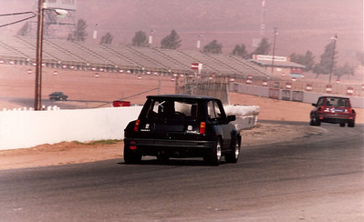 "Riverside International Raceway. The ""X"" on the rear window indicates ""rookie"""