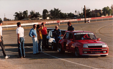 Sun International Racing R5 Turbos @ Riverside International Raceway. Aldo, Mark, Tay Jr., Tay Sr. Lee Benson.