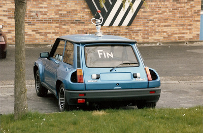 "R5 Turbo ""Le Fin"" The last R5 Turbo produced May 1986 at Renault Alpine, Dieppe, France."
