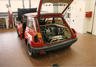 Renault R5 Turbo emission testing at Weissach