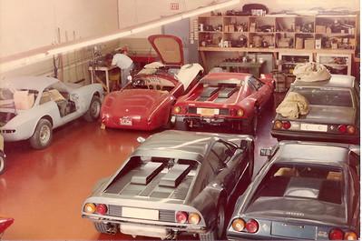 Ferrari 365 GTC restoration, Cobra, 512 BB, 400i, 308 GTS emerald the first one in the US, 512 BB.