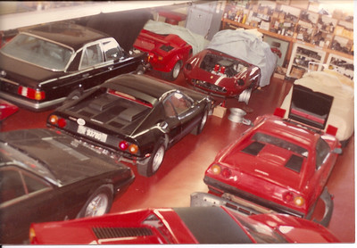 Ferrari 400, Mercedes 500 SEL (one of the first in the US) imported and Certified by SIR, Countach , Ferrari 365 GTC, (?), 308 GTB, 308 GTS