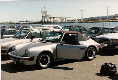 "Tom's ""Turbo Look"" Porsche, silver rossa metallic picking up at Richmond California. VIN  WPOEB0912GS170998."