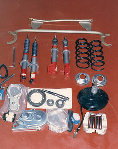 Oettinger VW components: fuel injection, shocks, springs, brakes, struts, etc.