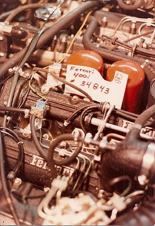 Ferrari 400i chassis No. F 101 CL *34843* importer / dealer Ferrari Diagnosis, Service / James Mallick.
