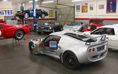 Honda powered Exige testing the OBD 2 diagnostics w/ lap top and AllInOne scan tool.