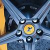 Ferrari ceramic brake closeup