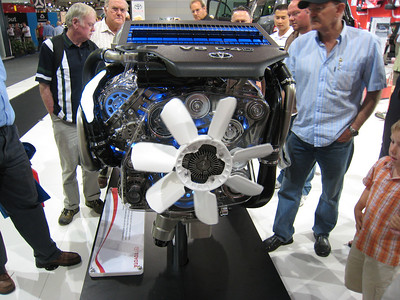 The engine of the new Landcruiser