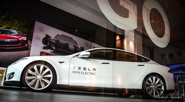 Tesla Electric Car in Brussels