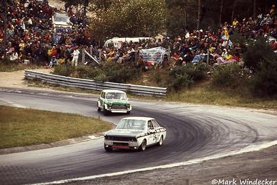 #154-Fran Leone Fiat 124 #34-John Ridington Cooper S