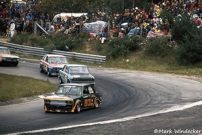 #63-Lou Gigliotti Datsun 510 #92-Paul Lambke Datsun 510 #4-Peter Schwartzott Datsun 510 #190-Werner Gudzus BMW-Autex 2002tii
