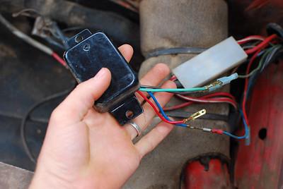 An external regulator hooked up to my internally regulated alternator.  Hmm.