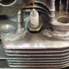 Welded cooling fin.