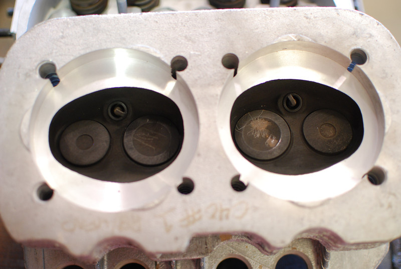 Looks like this head was not bead blasted when they cut it for the larger cylinders.