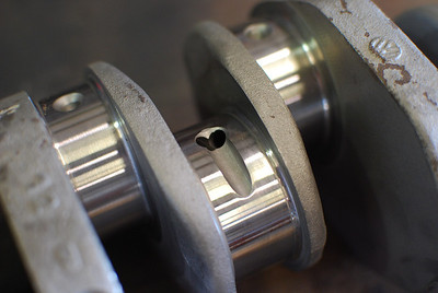 Machined VW crank.