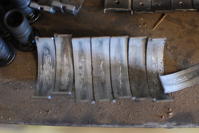 Worn rod bearings.