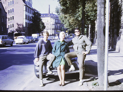 """Germany w/ one of Bob's new girl friends. Because of him and my car we met women every time we stopped. Once even while driving around l""""Etoile in Paris."""