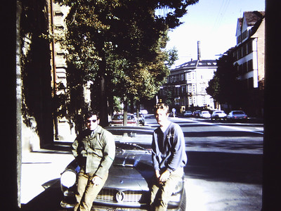 Bob & Tom Europe. Tom had been hitch hiking for two months before buying the Maserati and lost 1/3 of his body weight.