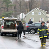 There was a three vehicle MVA at the corner of Franklin and Oak Hill Streets in Fitchburg on Thursday morning. The two cars in the picture where involved in the crash. SENTINEL & ENTERPRISE/JOHN LOVE