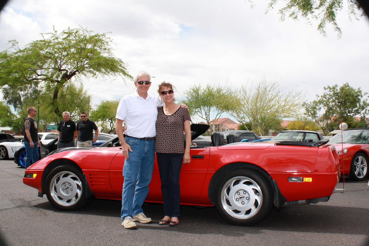 7) Robert Gander's 1992 LT1 Bright Red Convertible with Black Soft Top, Black Interior and 6-Speed Manual Transmission. Ordered new in 1992 with every available factory option except hardtop and has 55k original miles!
