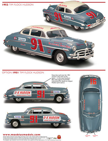 Tim Flock Hudson Decal Instructions