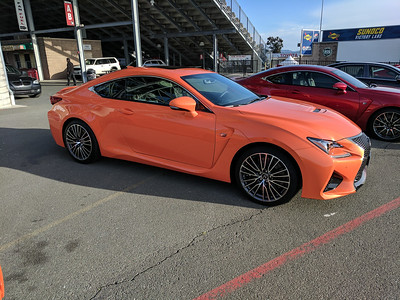 I've never seen an orange Lexus on the road!