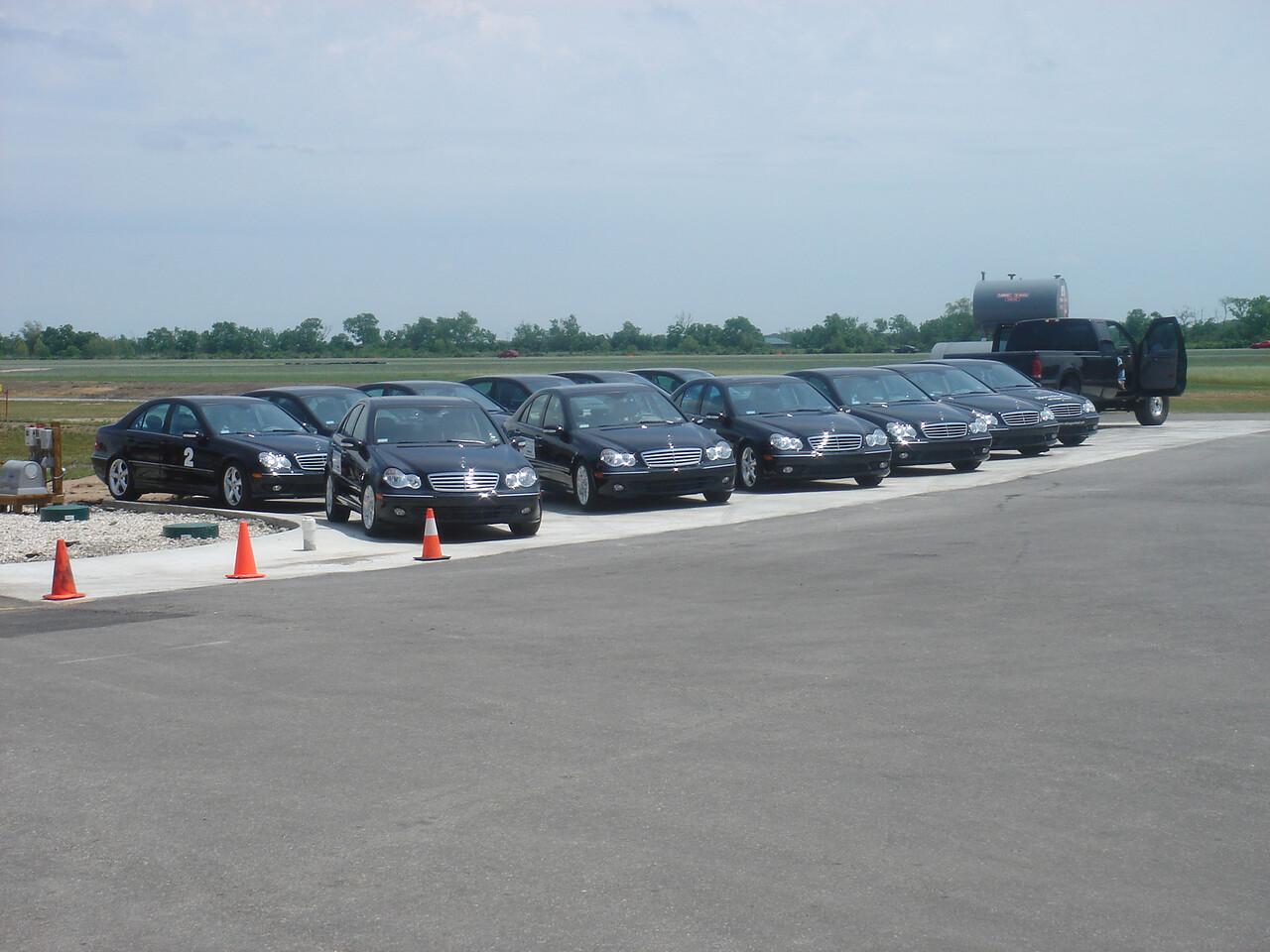 Mercedes sponsors the track....