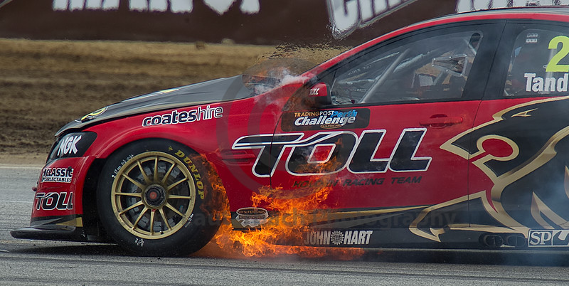 Not sure what it is about me ..... V8 Supercars .... and flames ....