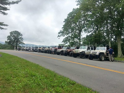 Jeep club at Bald mtn