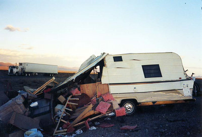 Trailer Post Accident Xmas 1988