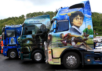 20060604: Harry Potter painted on a truck.