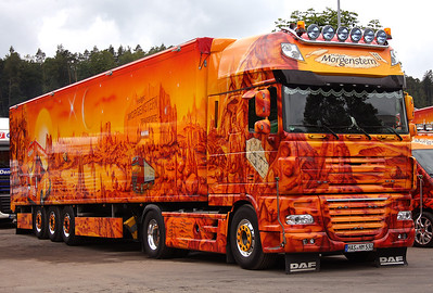 DAF XF, Holger Morgenstern Transport, Trucker Festival Geiselwind, Germany, June 2011